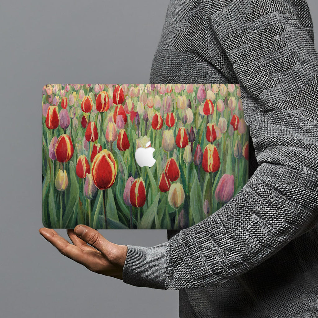 hardshell case with Oil Painting Abstract design combines a sleek hardshell design with vibrant colors for stylish protection against scratches, dents, and bumps for your Macbook