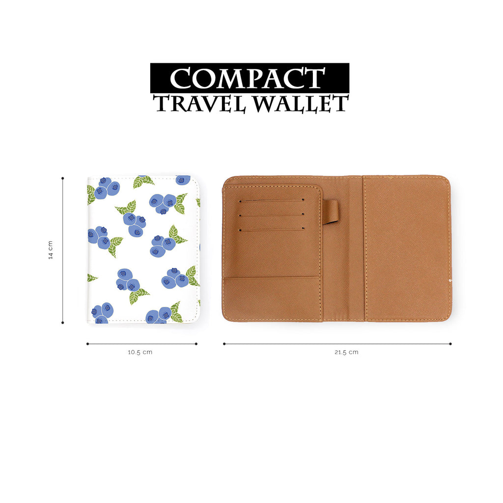 compact size of personalized RFID blocking passport travel wallet with Summer design