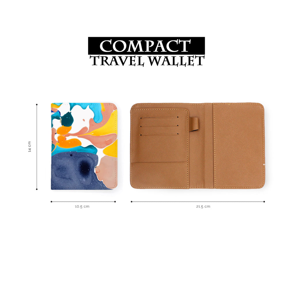 compact size of personalized RFID blocking passport travel wallet with Artistic Textures 1 design