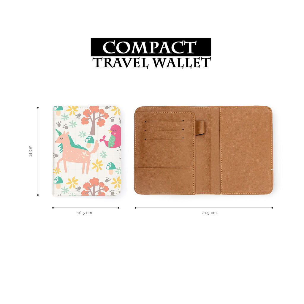 compact size of personalized RFID blocking passport travel wallet with Animals 3 design