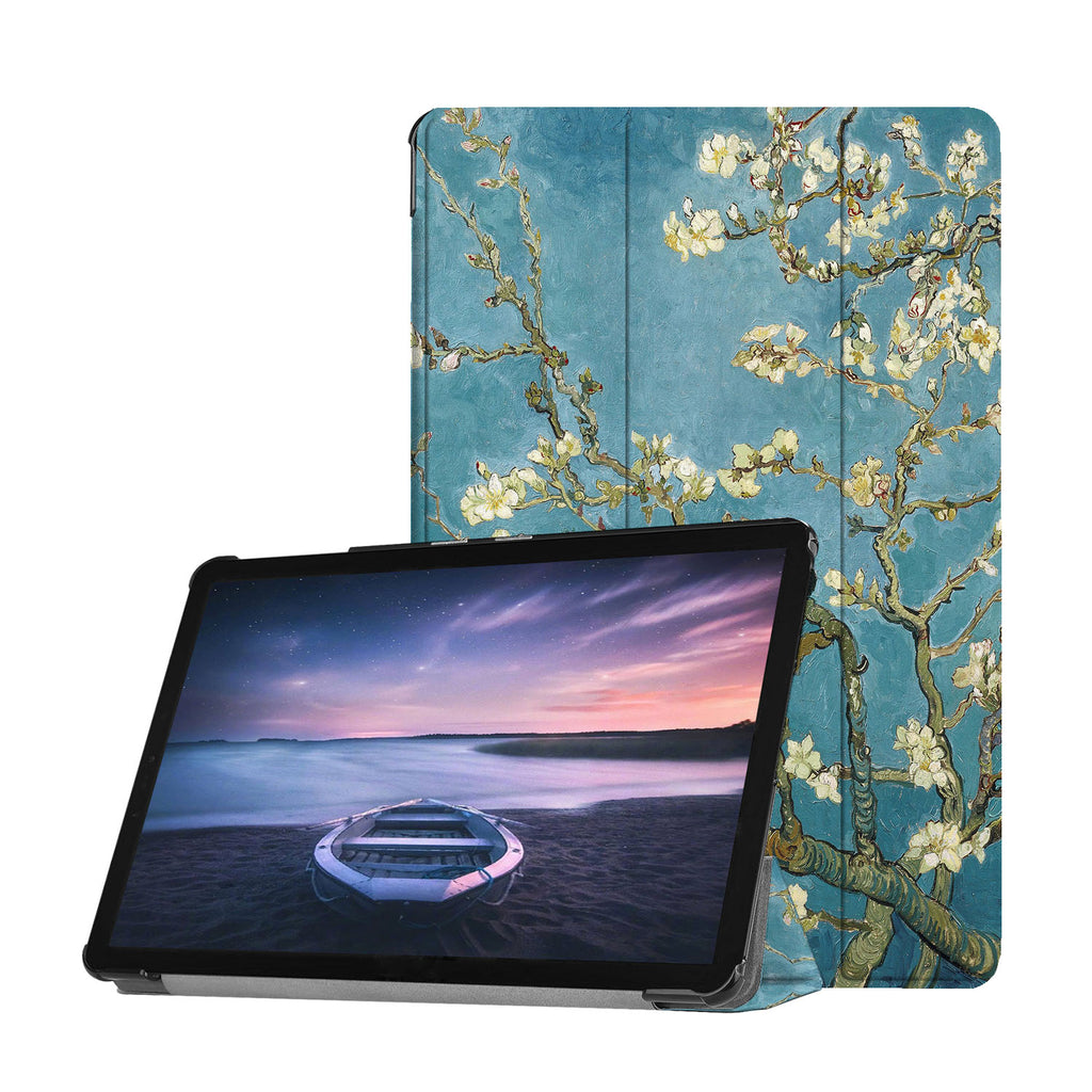 Personalized Samsung Galaxy Tab Case with Oil Painting design provides screen protection during transit
