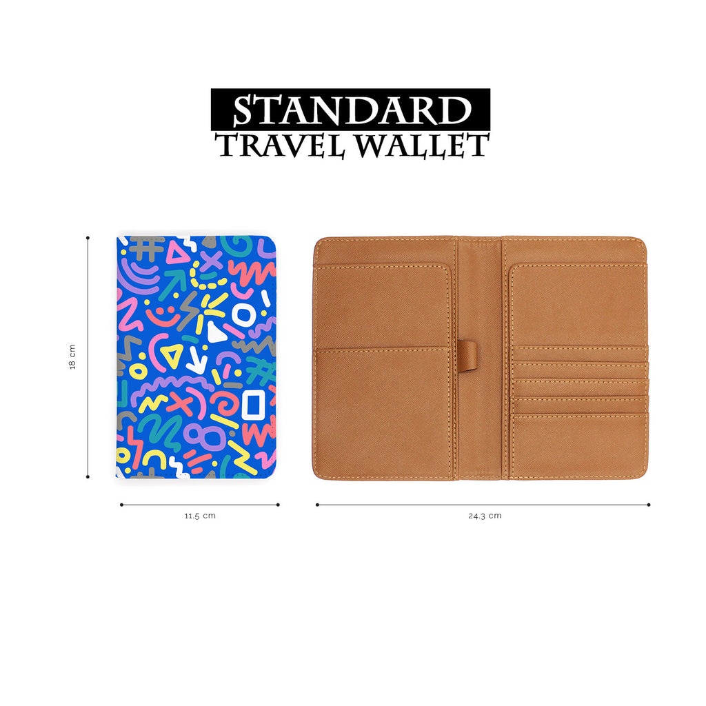 standard size of personalized RFID blocking passport travel wallet with 90 Patterns design