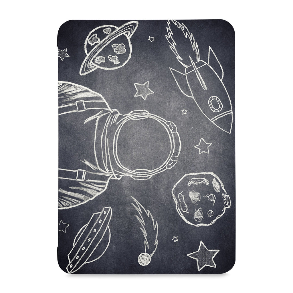the front view of Personalized Samsung Galaxy Tab Case with Astronaut Space design