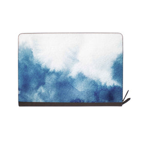 front view of personalized Macbook carry bag case with Abstract Ink Painting design