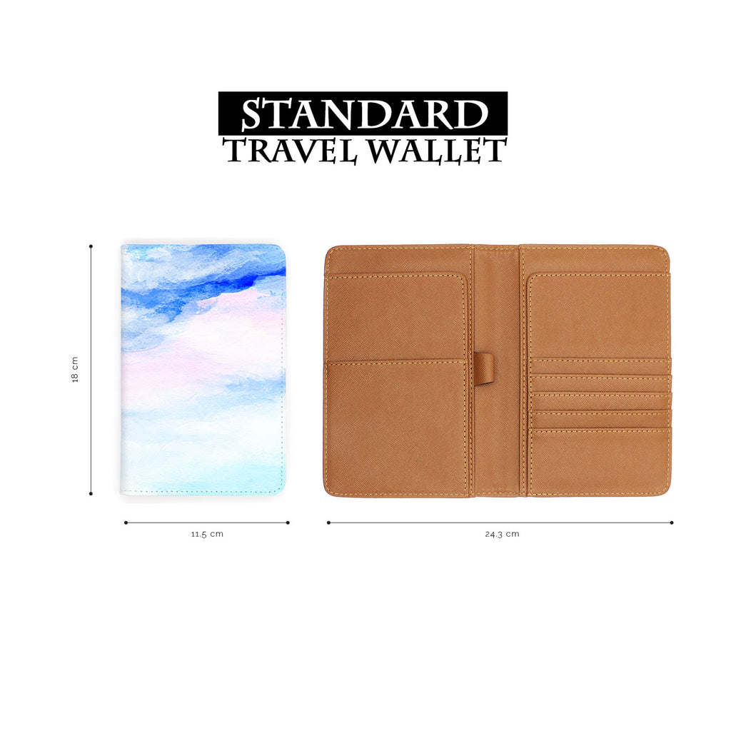 standard size of personalized RFID blocking passport travel wallet with Swatch Papers design