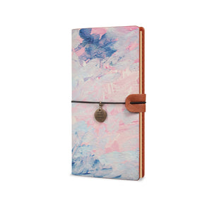 Traveler's Notebook - Oil Painting Abstract-the side view of midori style traveler's notebook - swap