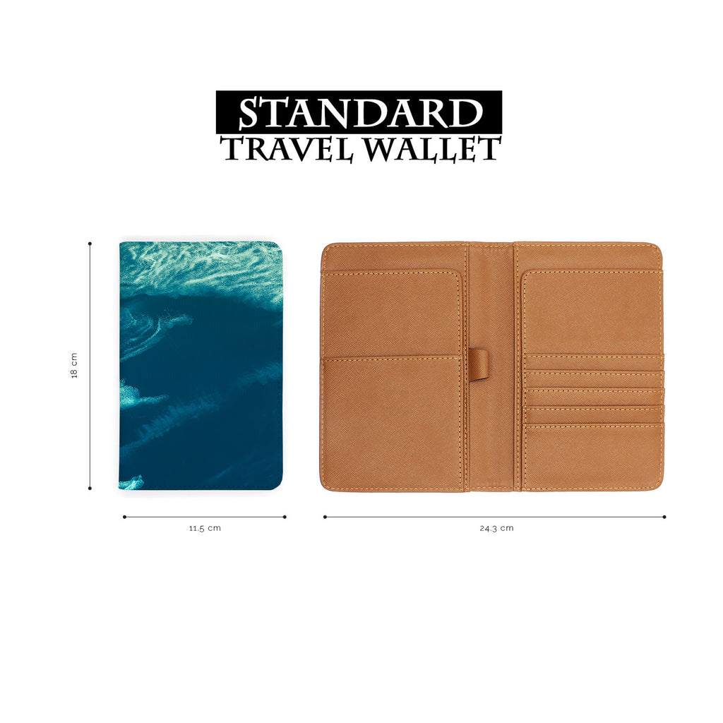 standard size of personalized RFID blocking passport travel wallet with Earth design
