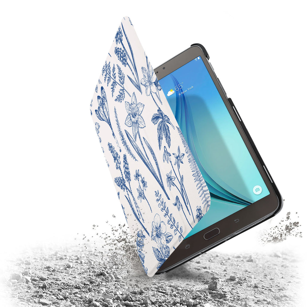 the drop protection feature of Personalized Samsung Galaxy Tab Case with Flower design