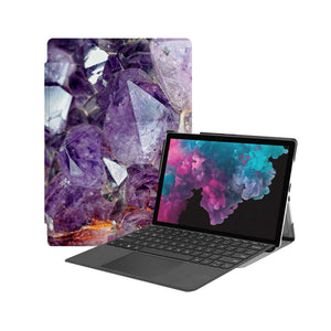 the Hero Image of Personalized Microsoft Surface Pro and Go Case with Crystal Diamond design