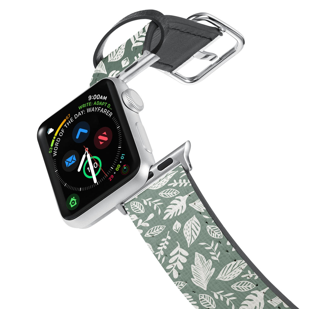 Printed Leather Apple Watch Band with 6 design. Designed for Apple Watch Series 4,Works with all previous versions of Apple Watch.