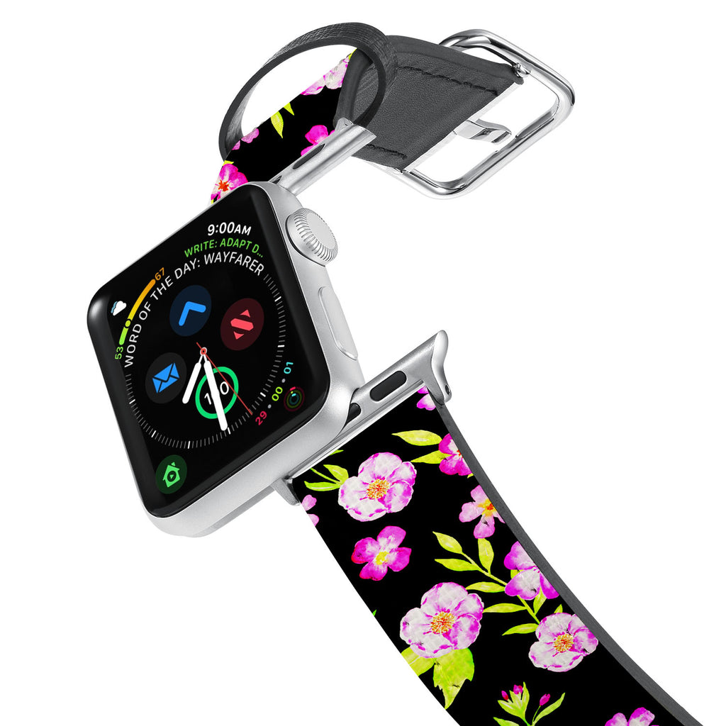Printed Leather Apple Watch Band with 3 design. Designed for Apple Watch Series 4,Works with all previous versions of Apple Watch.