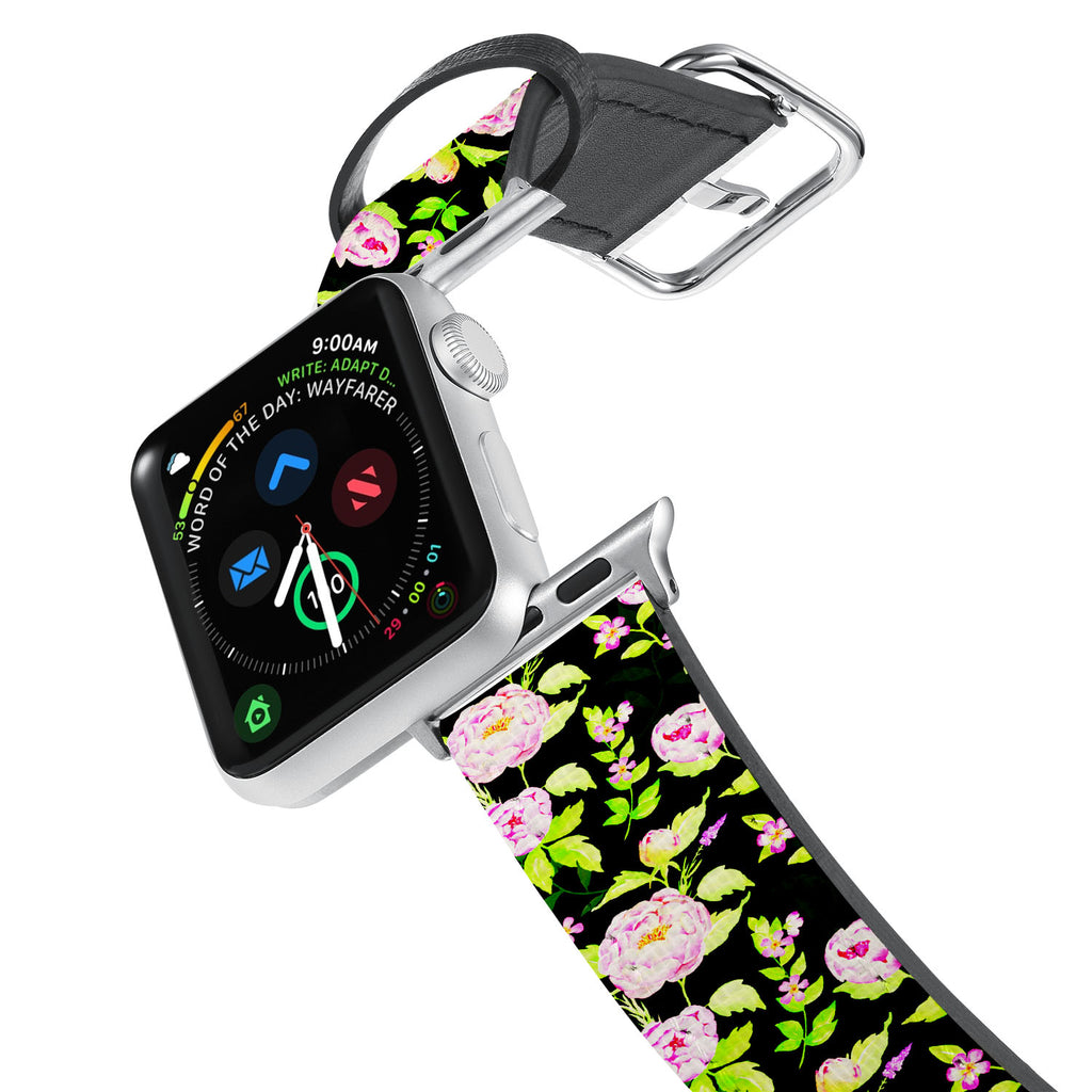Printed Leather Apple Watch Band with 4 design. Designed for Apple Watch Series 4,Works with all previous versions of Apple Watch.