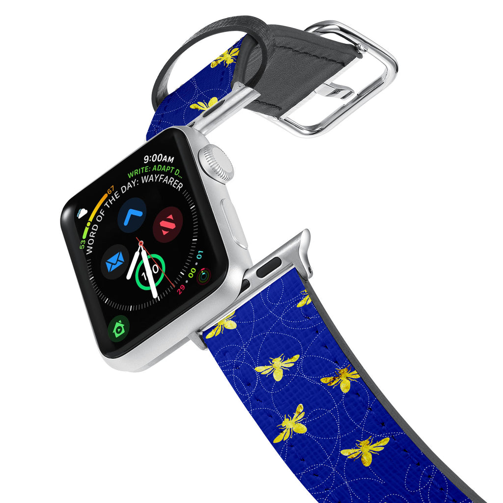 Printed Leather Apple Watch Band with 2 design. Designed for Apple Watch Series 4,Works with all previous versions of Apple Watch.