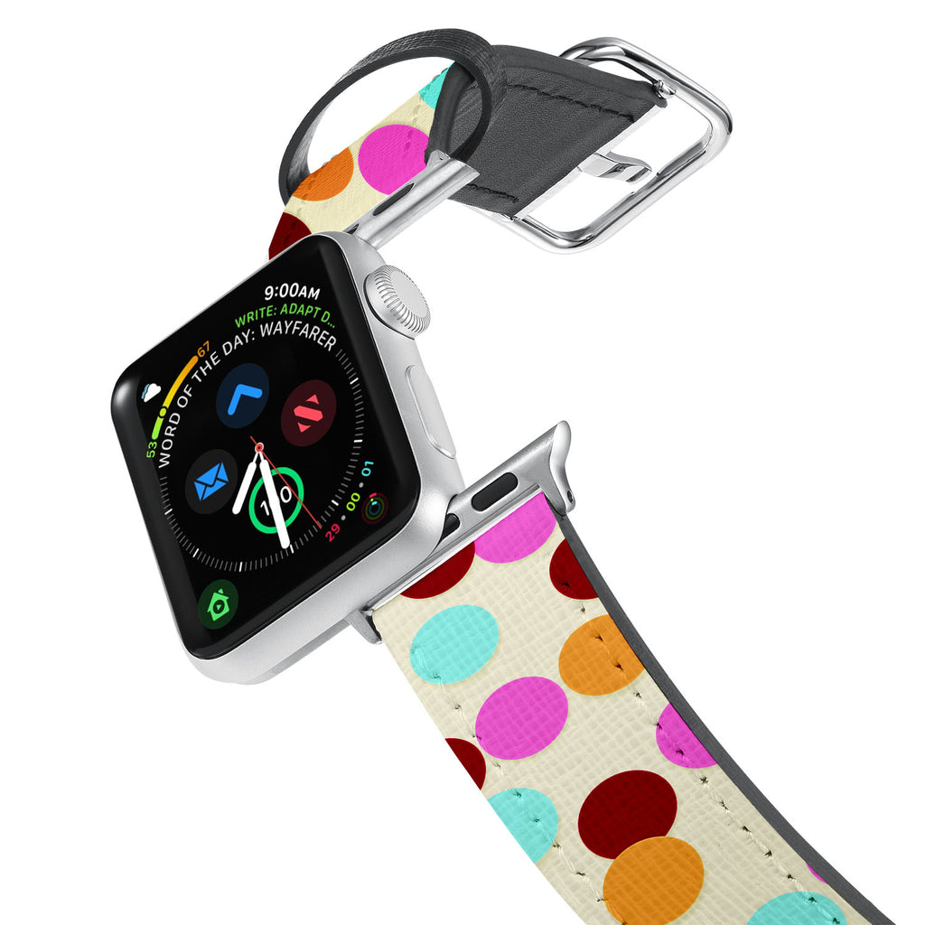 Printed Leather Apple Watch Band with 7 design. Designed for Apple Watch Series 4,Works with all previous versions of Apple Watch.