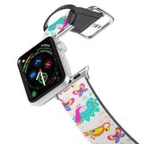 Printed Leather Apple Watch Band with 5 design. Designed for Apple Watch Series 4,Works with all previous versions of Apple Watch.