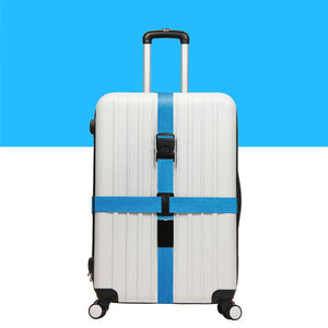 Luggage Crossed Strap - Blue