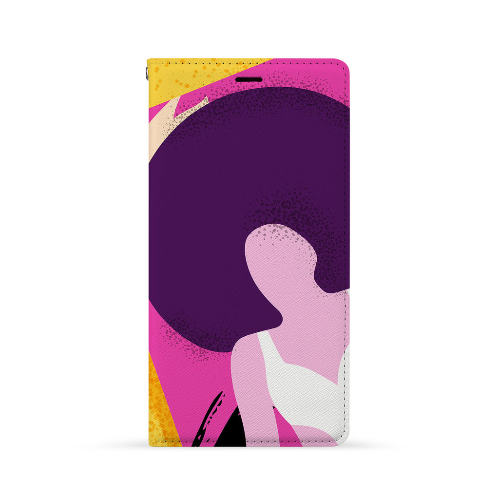 Front Side of Personalized iPhone Wallet Case with 4 design