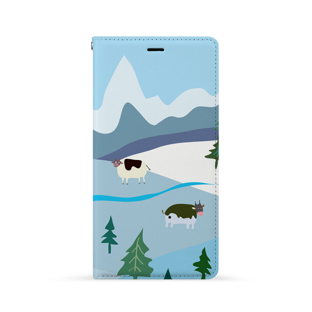 Front Side of Personalized iPhone Wallet Case with 6 design