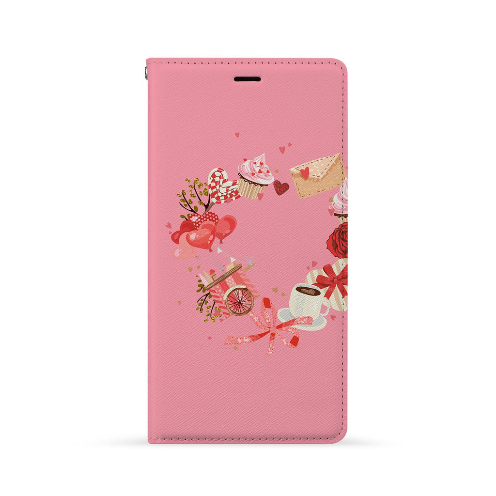 Front Side of Personalized Huawei Wallet Case with 8 design