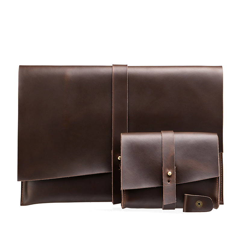 Macbook Genuine Leather Vintage Bag Set