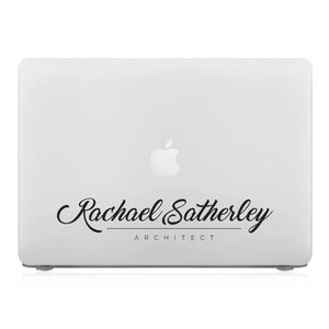 MacBook Case - Signature with Occupation 10