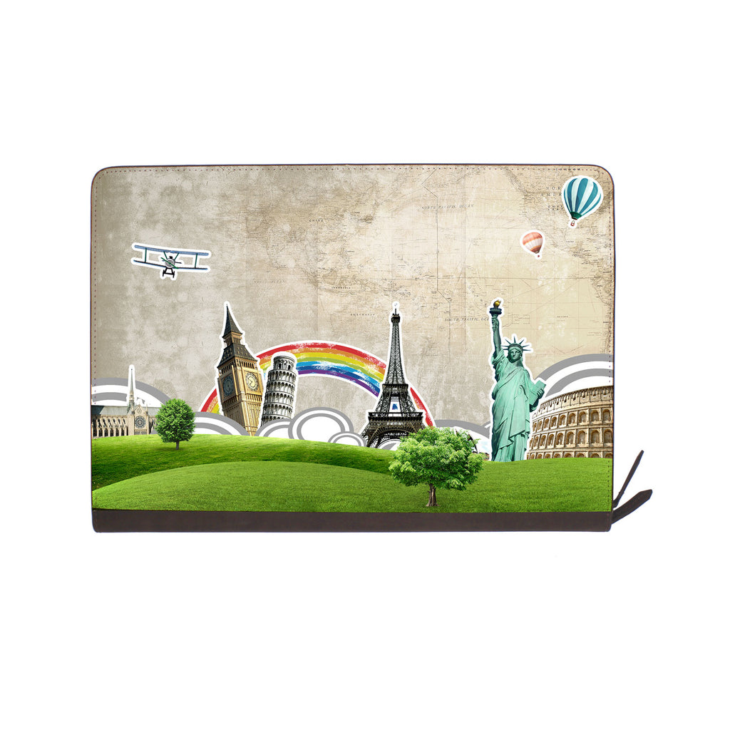 front view of personalized Macbook carry bag case with 04 design