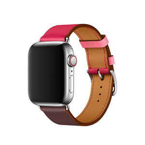 Swift Leather Band for Apple Watch Band - Bordeaux Rose