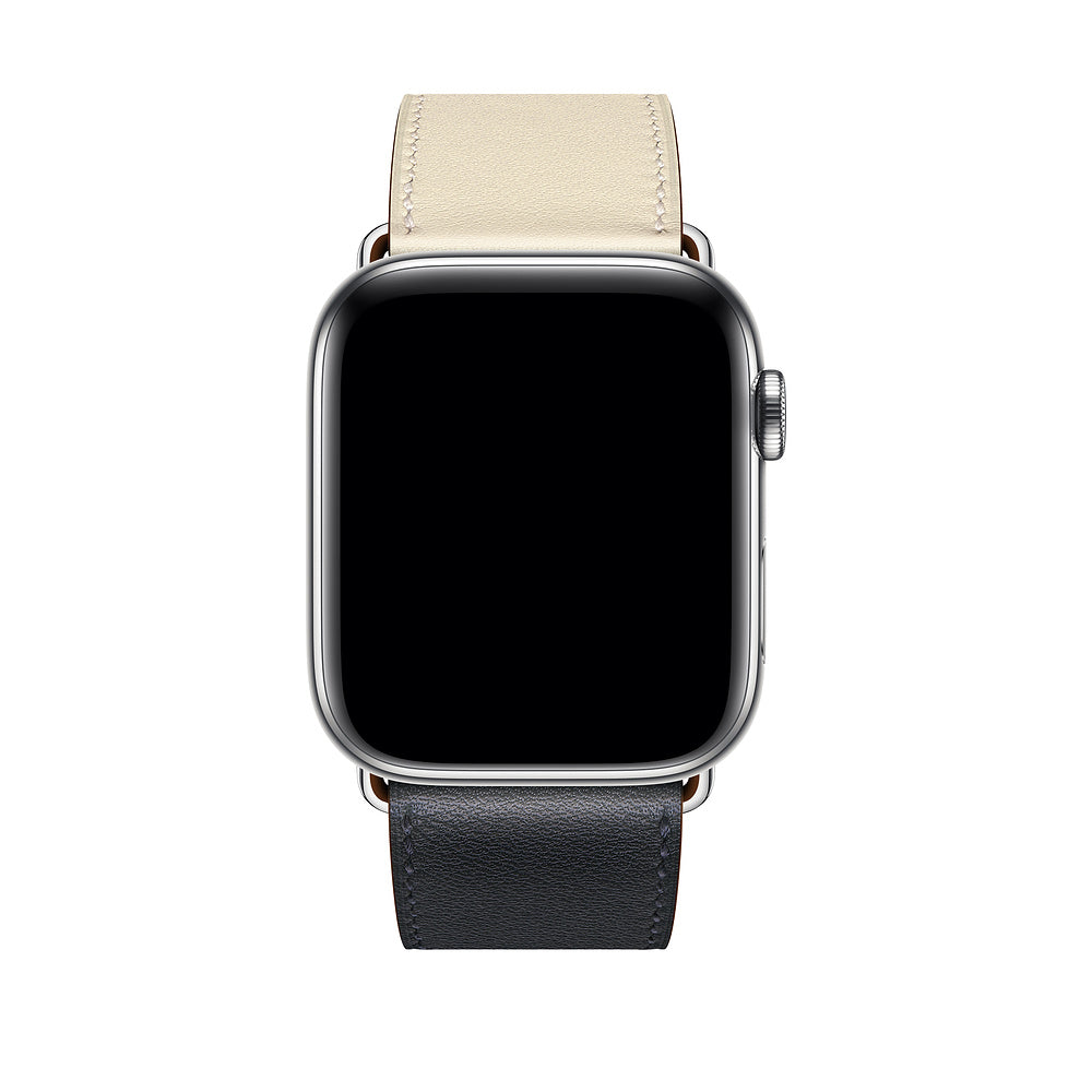 Swift Leather Band for Apple Watch - Indigo Craie Orange