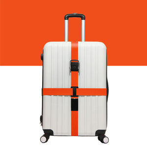 Luggage Crossed Strap - Orange