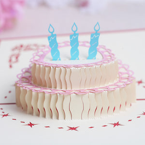 Pop Up 3D Greeting Card - Birthday Cake