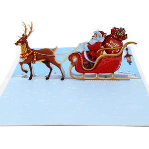 Pop Up 3D Greeting Card - Christmas Santa