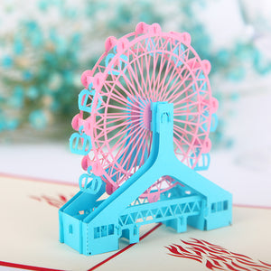 Pop Up 3D Greeting Card - Ferris Wheel