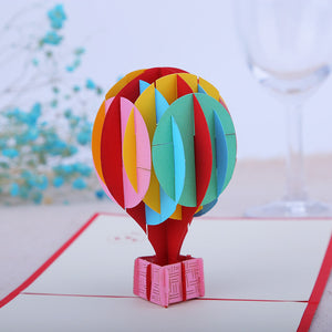 Pop Up 3D Greeting Card - Hot Balloon