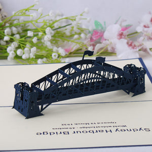 Pop Up 3D Greeting Card - Sydney Harbour Bridge