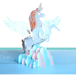 Pop Up 3D Greeting Card - Unicorn