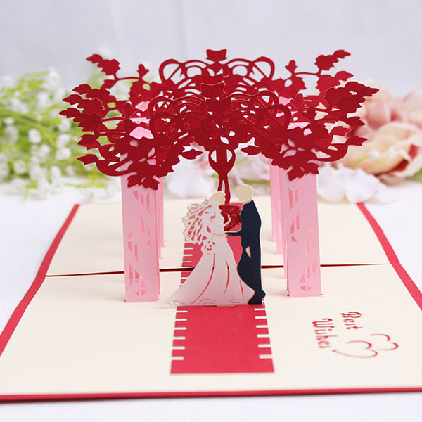 Pop Up 3D Greeting Card - Wedding Day