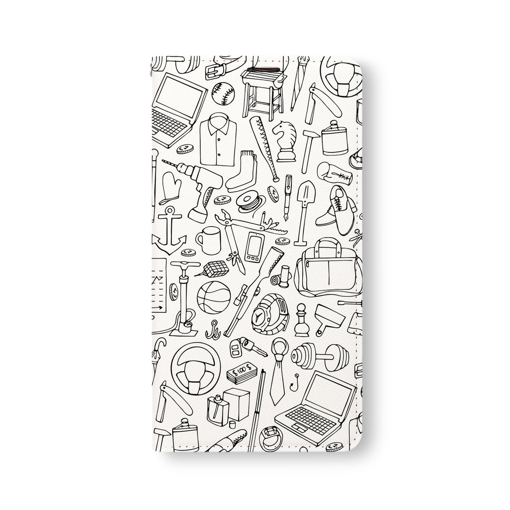 Front Side of Personalized Samsung Galaxy Wallet Case with 2 design
