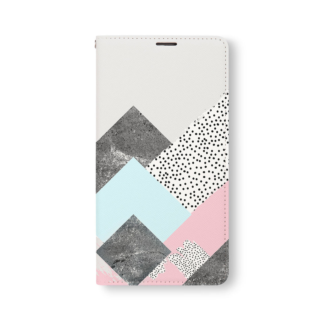 Front Side of Personalized Samsung Galaxy Wallet Case with 07 design