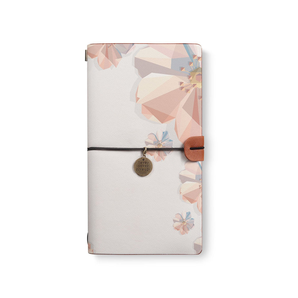 the front top view of midori style traveler's notebook with 5 design
