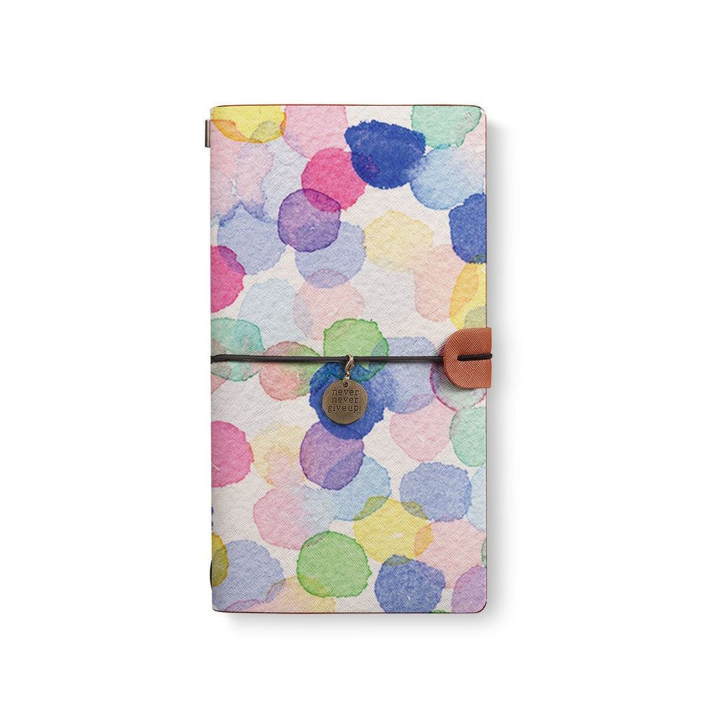 the front top view of midori style traveler's notebook with 7 design