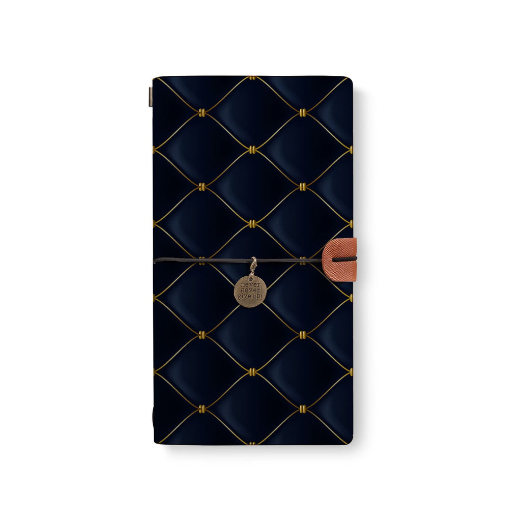 the front top view of midori style traveler's notebook with 2 design
