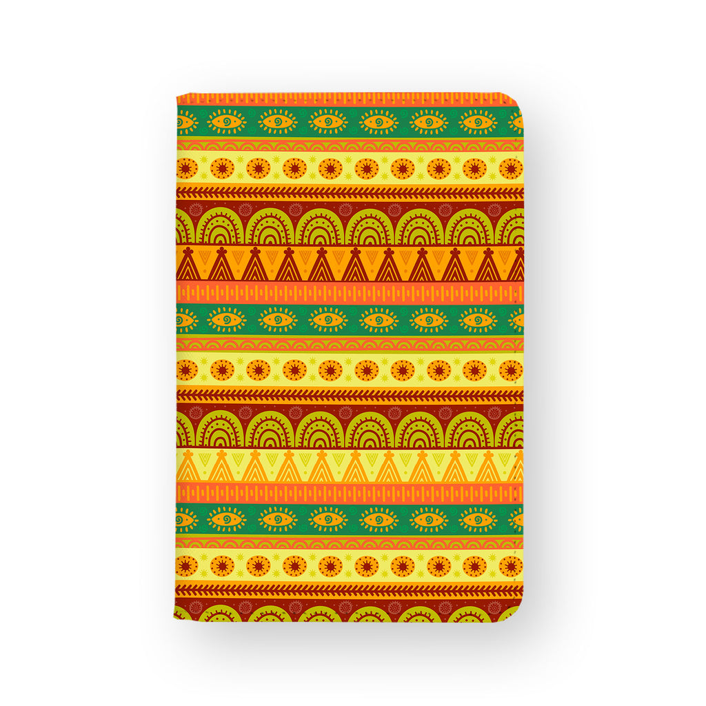 front view of personalized RFID blocking passport travel wallet with 8 design