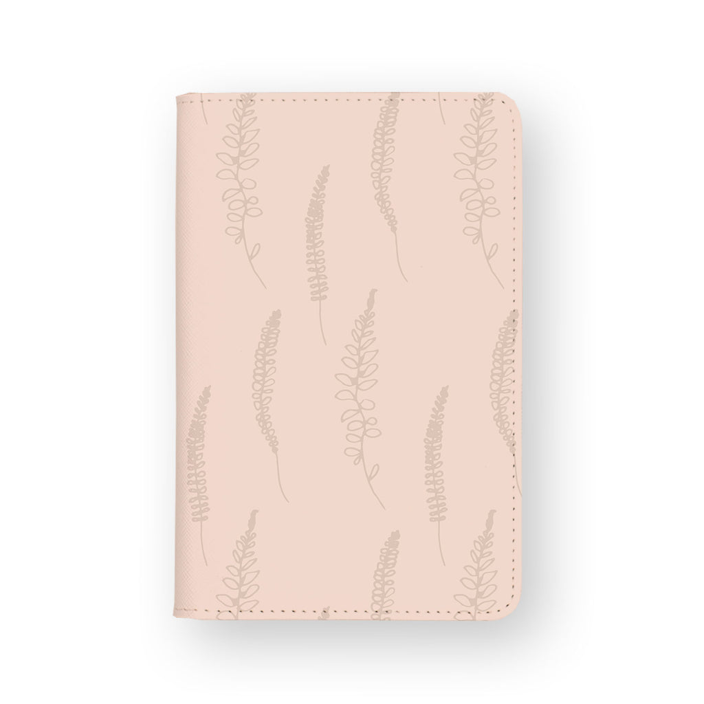 front view of personalized RFID blocking passport travel wallet with 2 design