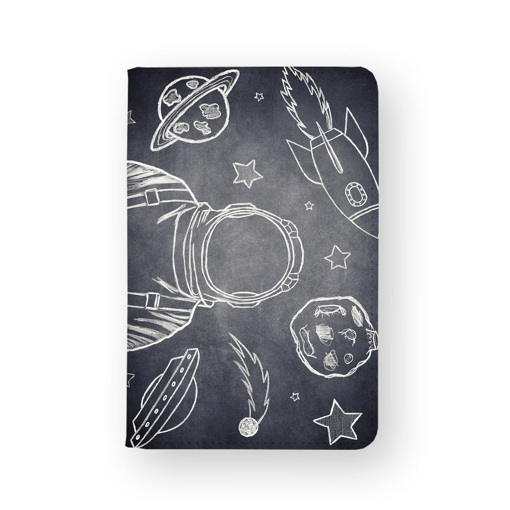 front view of personalized RFID blocking passport travel wallet with 03 design