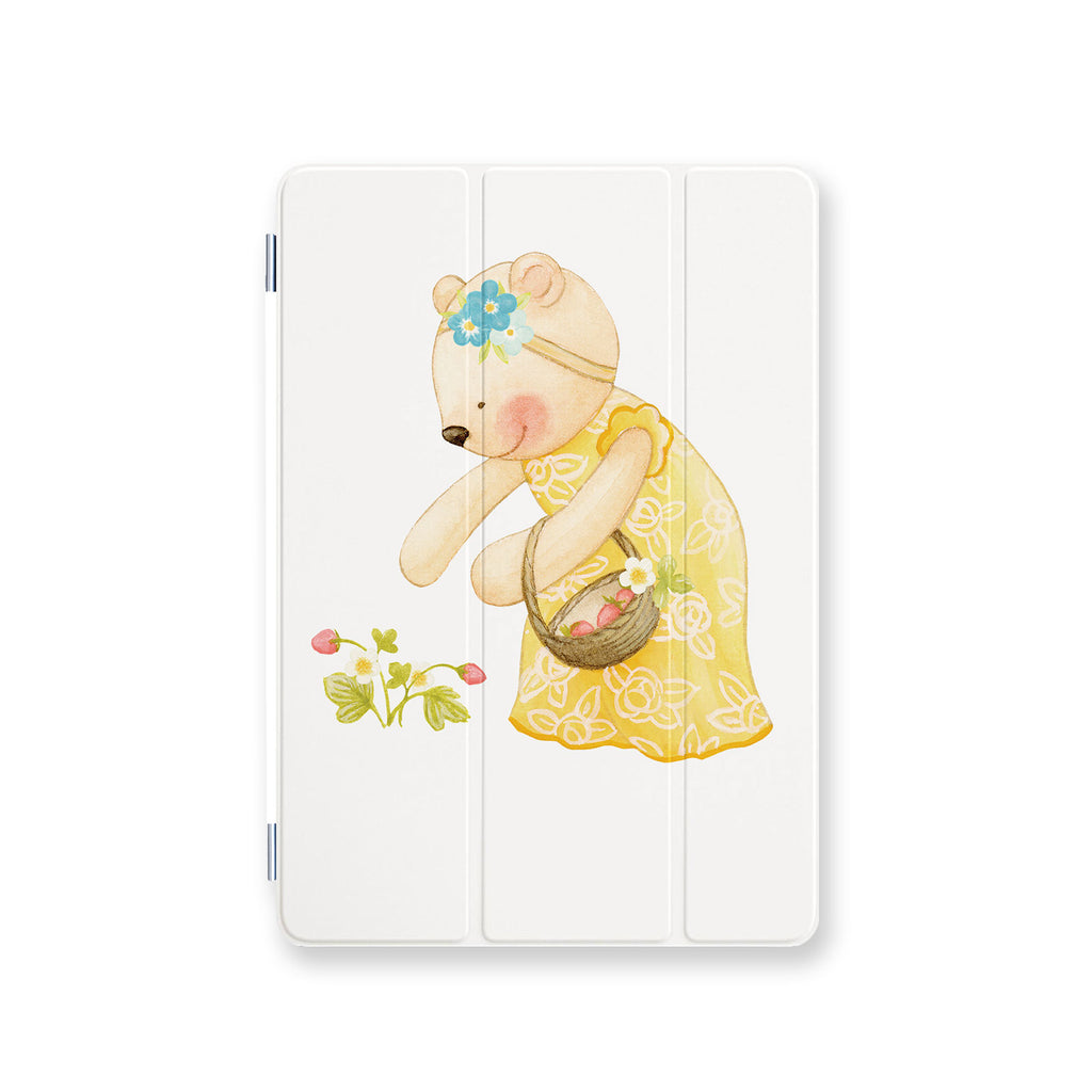 front view personalized iPad case smart cover with 04 design