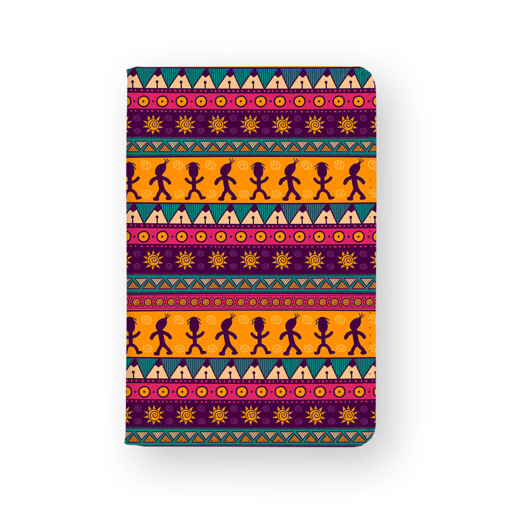 front view of personalized RFID blocking passport travel wallet with 3 design