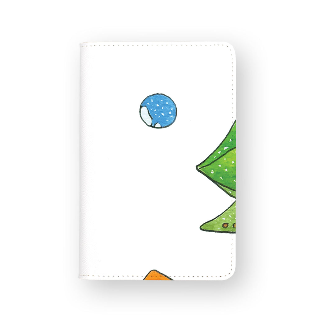 front view of personalized RFID blocking passport travel wallet with Sea Turtle And Marine design