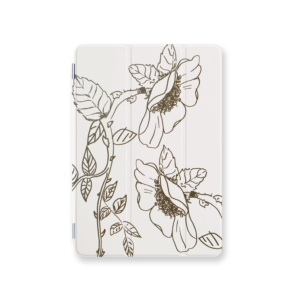 front view personalized iPad case smart cover with 3 design