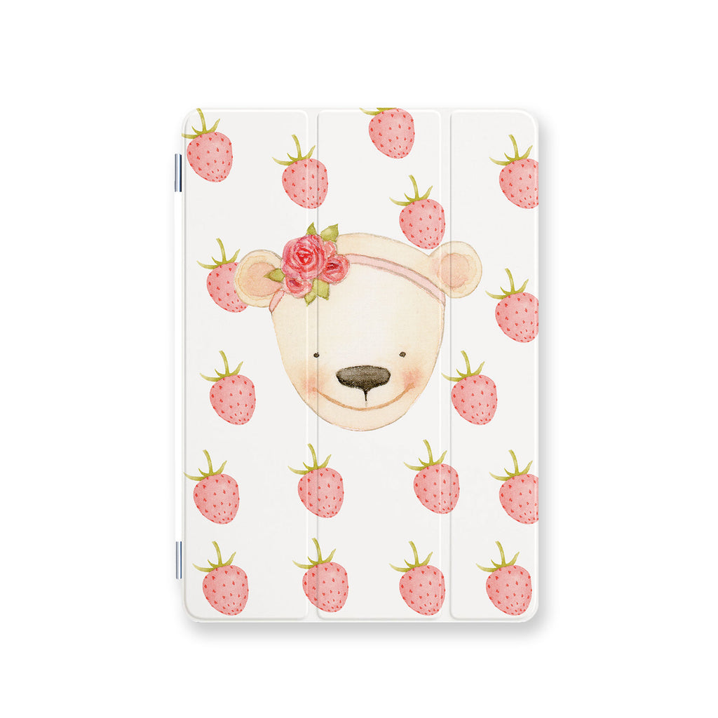 front view personalized iPad case smart cover with 07 design