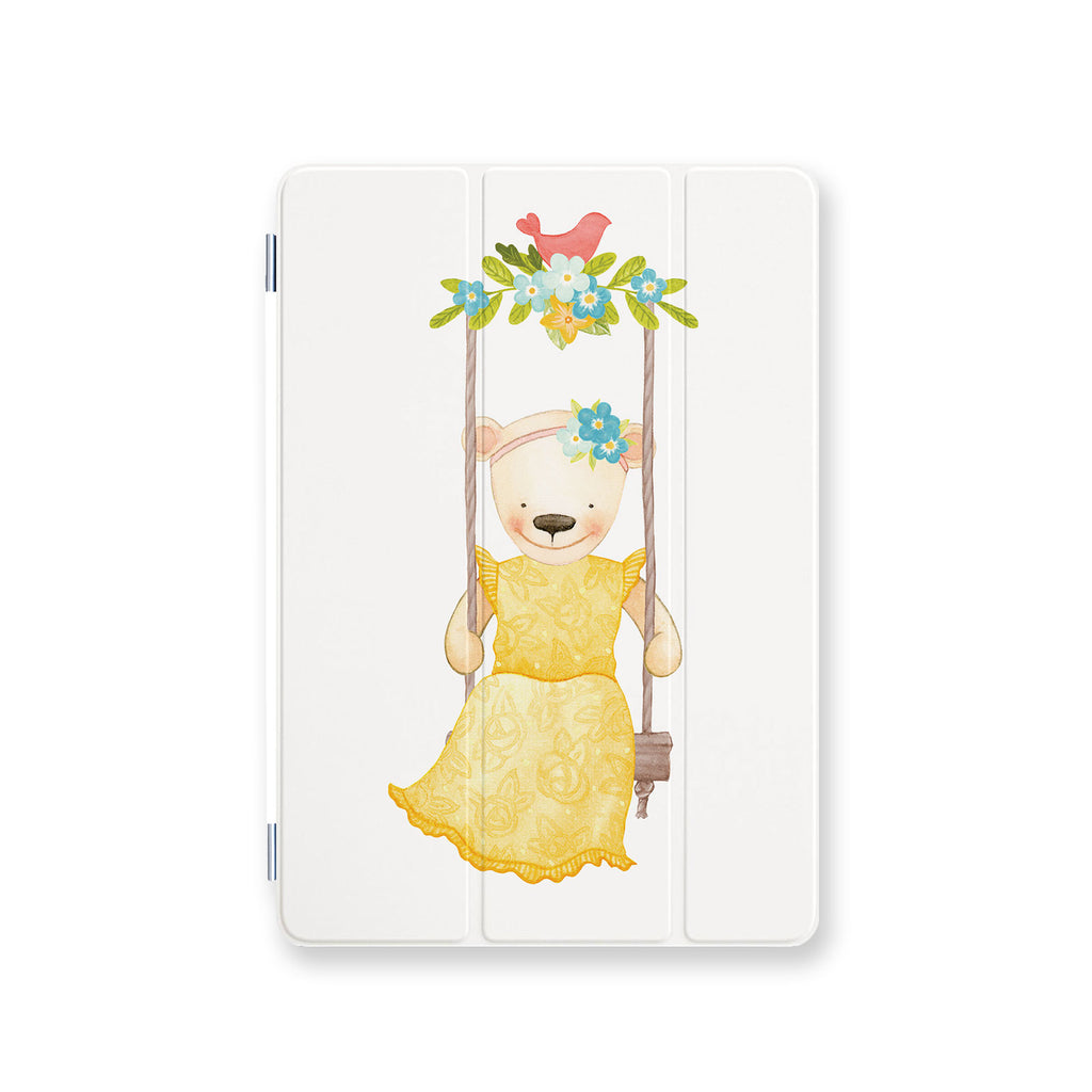 front view personalized iPad case smart cover with 02 design
